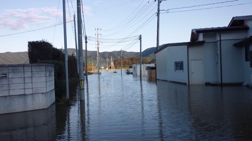 台風15号と地盤沈下