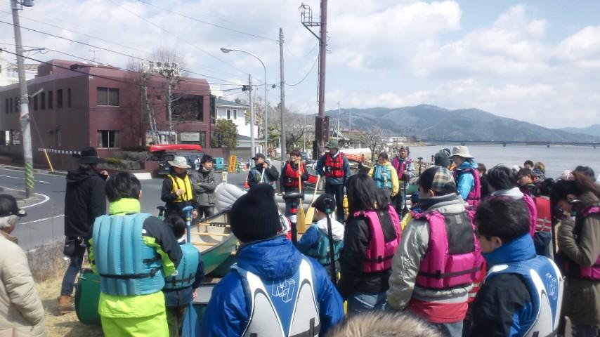 石巻カヌークラブ設立会の見学