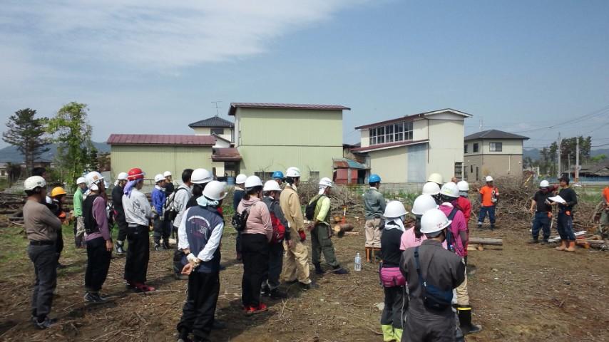DRT災害救援ボランティア講習@<br />  山元町テラセン